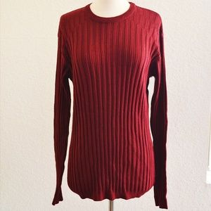 Claiborne Womens Red Knit Sweater Size L NWT
